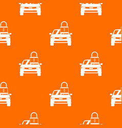 Car with padlock pattern seamless vector