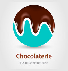 Chocolaterie business icon vector