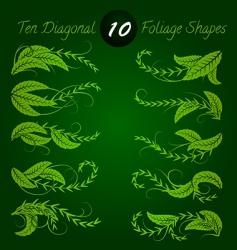 diagonal foliage vector image vector image