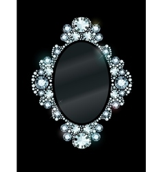 Diamond mirror frame vector