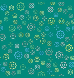 gears seamless pattern background vector image
