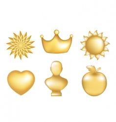 golden set vector image vector image