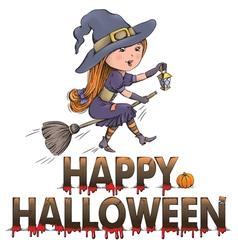 Happy halloween composition vector