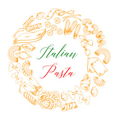 Italian pasta or macaroni poster vector