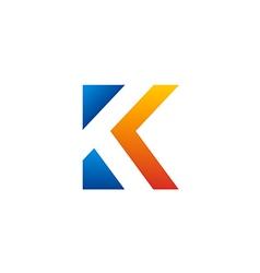 letter K color initial logo vector image