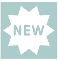 new symbol the white color icon vector image vector image