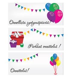 Postcards Happy Birthday vector image vector image