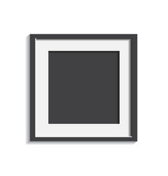 Realistic photo frame isolated on white vector