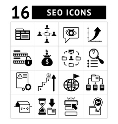 Set of SEO web and internet icons vector image