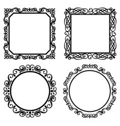 Set of vintage frames borders vector image vector image