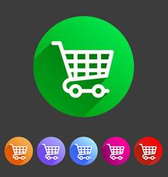 Shopping cart icon flat web sign symbol logo label vector