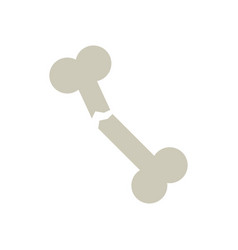 Simple bone fracture symbol vector