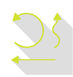 Simple set to interface arrows pear icon with flat vector