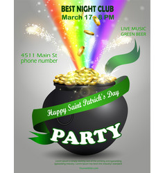 St patrick s day poster design templat vector
