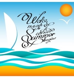 style summer design poster with sun and vector image