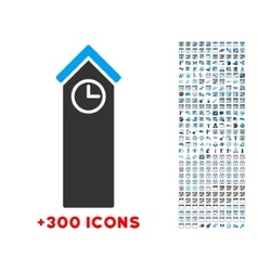 Time tower icon vector