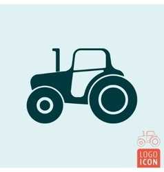 Tractor icon isolated vector image vector image