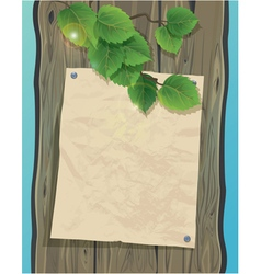 wood paper fon 380 vector image