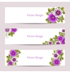 Set of horizontal banners vector