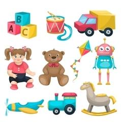 Kids Single Toys Set vector image
