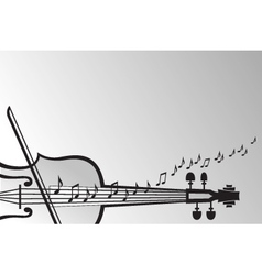 Violin and musical notes vector