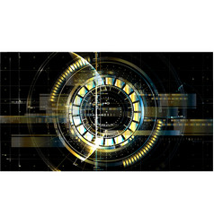 Technological space metallic middle hud display vector
