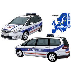 France police car vector