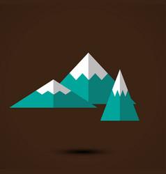 mountains logo template vector image