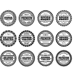 Set award stamp for design studios vector