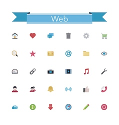 Web flat icons vector