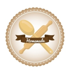 Homemade dessert graphic vector image
