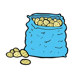 Comic cartoon sack of potatoes vector