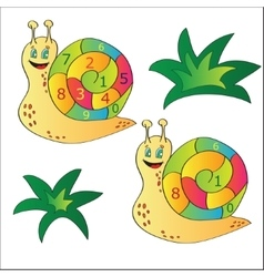 A snail - puzzle for child vector