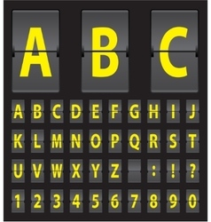 alphabet of black mechanical panel vector image