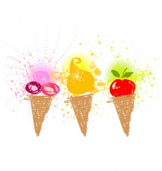 cartoon ice-cream holiday vector image
