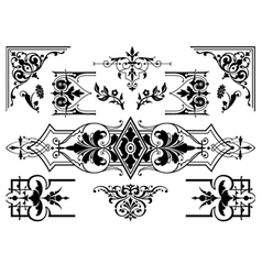 Antique design elements vector