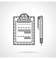Business document line icon vector image vector image