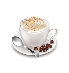Cappuccino isolated on white vector