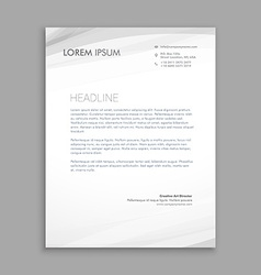 Clean minimal lettehead design vector