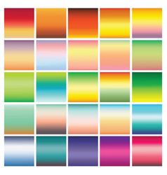 collection of 25 abstract colorful gradients vector image vector image