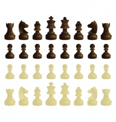 coloured chessmen vector image vector image