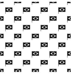 Flag of brazil pattern vector