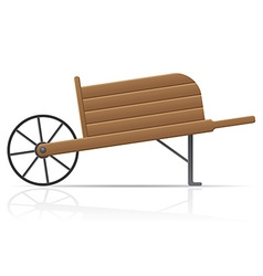 Garden wheelbarrow vector