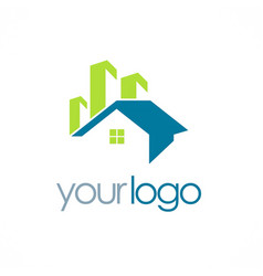 house building realty logo vector image vector image
