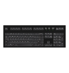 keyboard black vector image vector image
