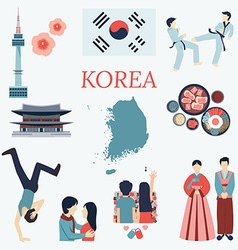 Korea design elements vector image vector image