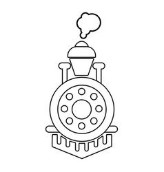 locomotive icon outline style vector image