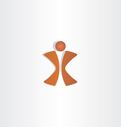 Man letter x logo design vector