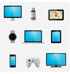 Multimedia gadgets icons vector
