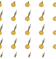 onion hand drawn on white background hand drawn vector image